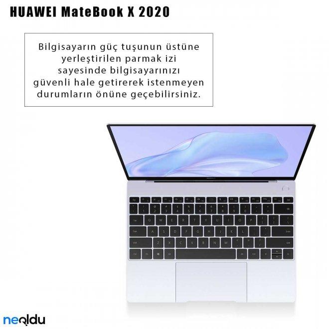 Huawei MateBook X 2020 parmak izi