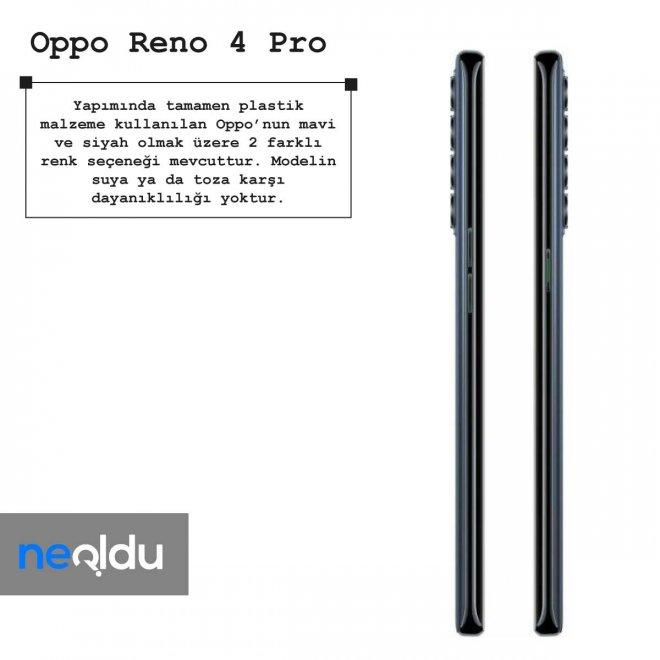Oppo Reno 4 Pro renk seçenekleri