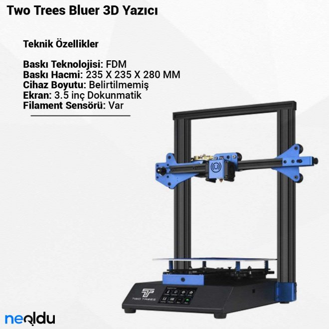 Two Trees Bluer3D Yazıcı
