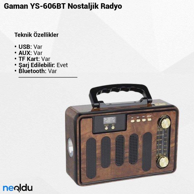 Gaman YS-606BTNostaljik Radyo