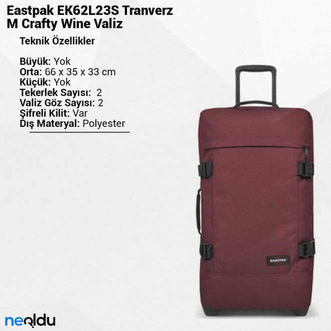 Eastpak EK62L23S Tranverz M Crafty Wine Valiz