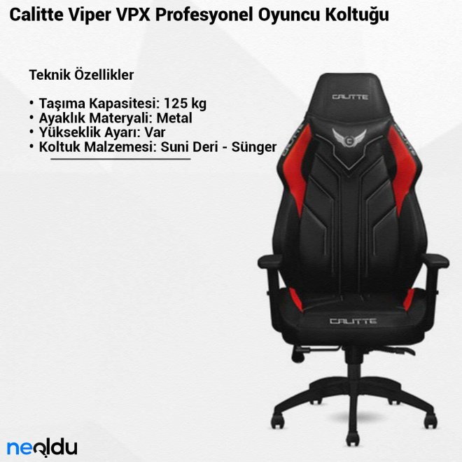 Calitte Viper VPXProfesyonel Oyuncu Koltuğu