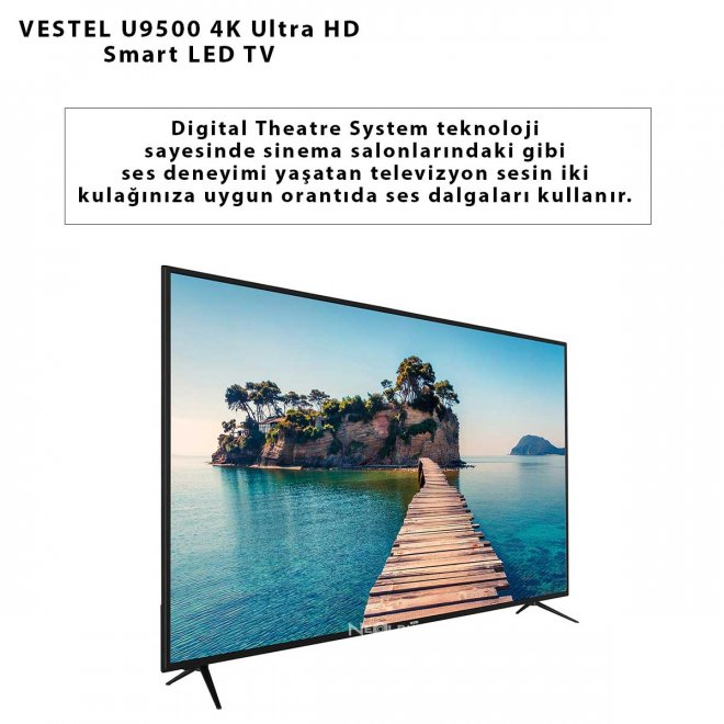 VESTEL U9500 4K Ultra HD Smart LED TV