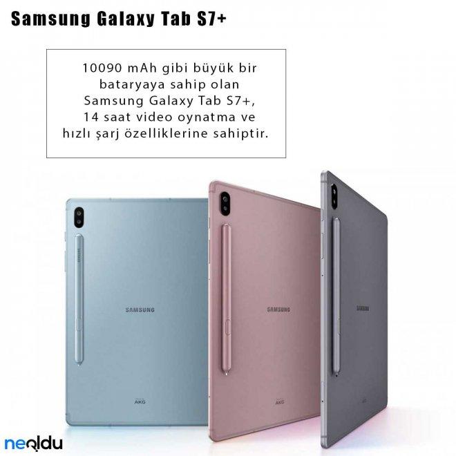 Samsung Galaxy Tab S7+ batarya