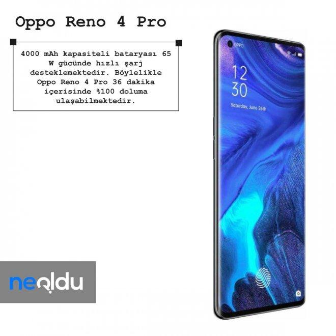 Oppo Reno 4 Pro şarj özellikleri
