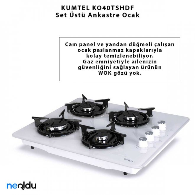 KUMTEL KO40TSHDF Set Üstü Ankastre Ocak