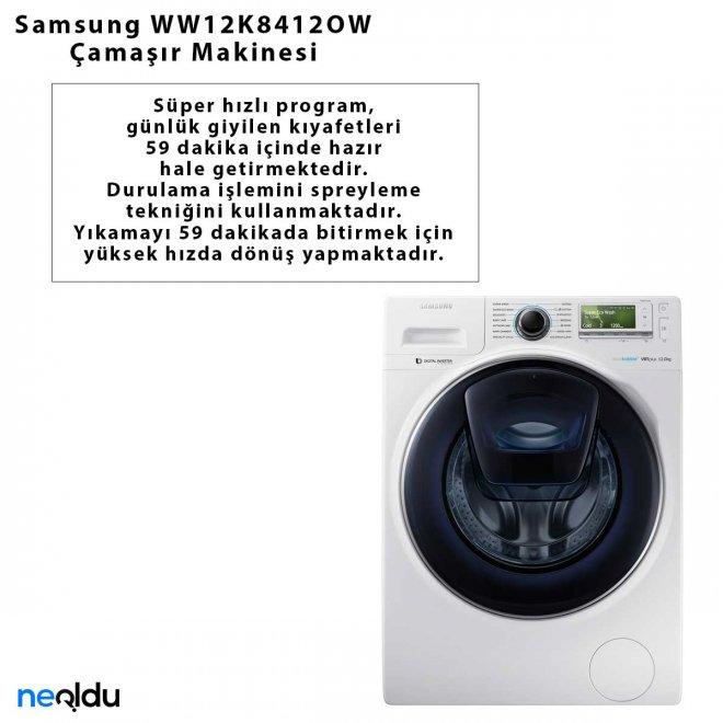 Samsung WW12K8412OW Çamaşır Makinesi