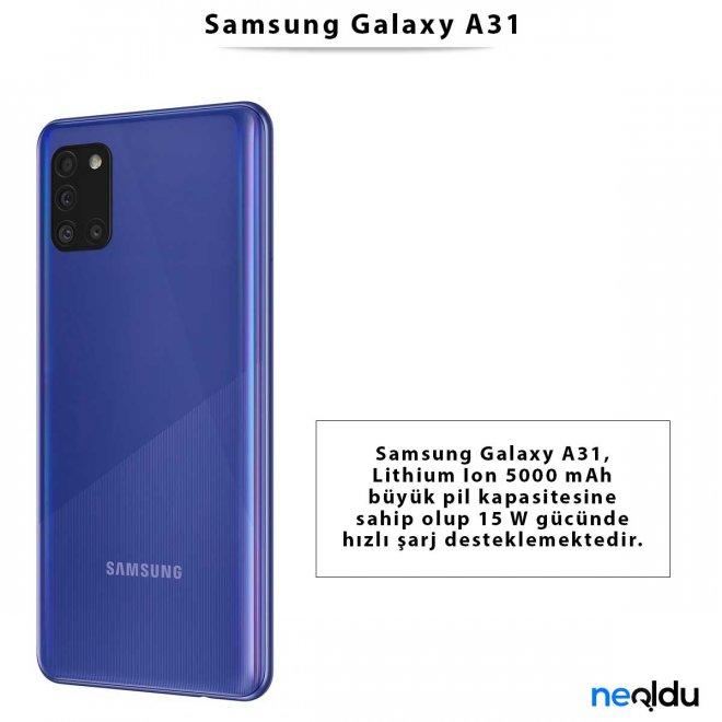Samsung Galaxy A31 Fiyat