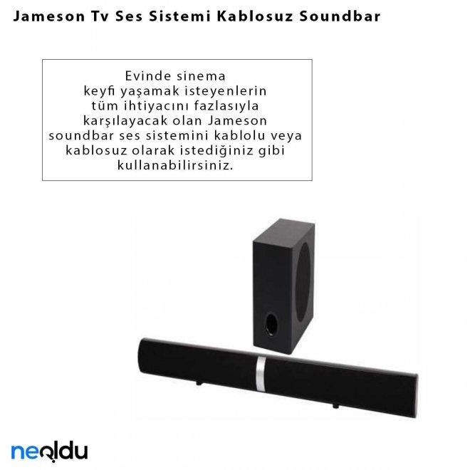 Jameson Tv Ses Sistemi Kablosuz Soundbar