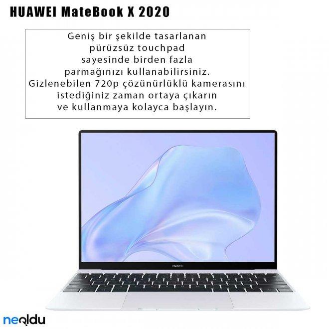 Huawei MateBook X 2020 kamerası