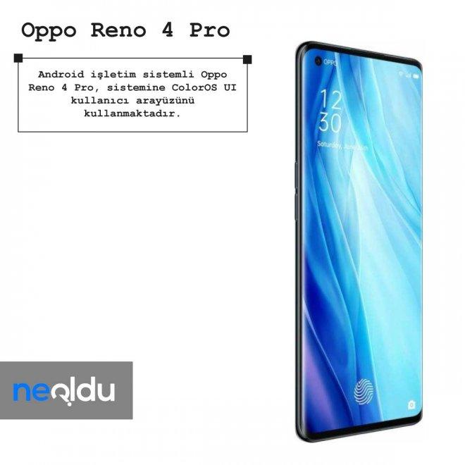 Oppo Reno 4 Pro işletim sistemi