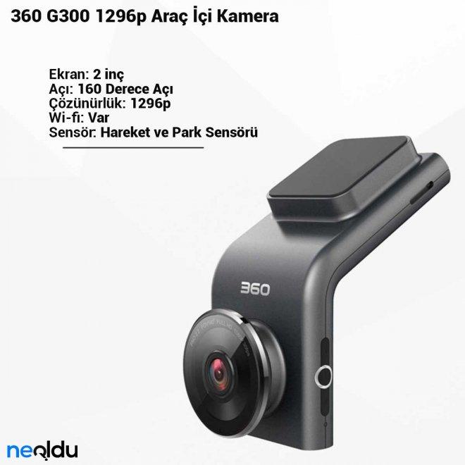 360 G300 1296p Araç İçi Kamera