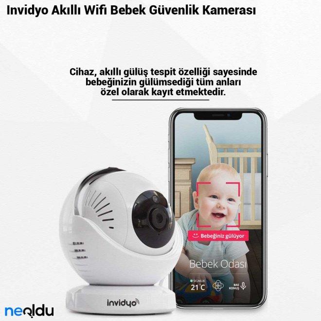 Invidyo Akıllı Wifi Bebek Güvenlik Kamerası