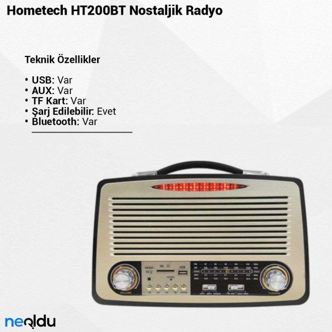 Hometech HT200BT Nostaljik Radyo