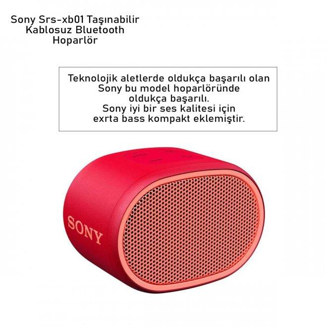 Sony Srs-xb01 Taşınabilir Kablosuz Bluetooth Hoparlör