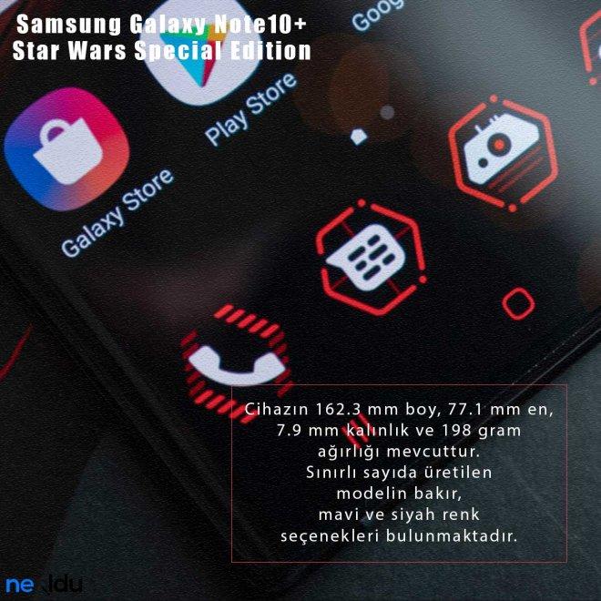 Samsung Galaxy Note10+ Star Wars fiziksel özellikleri