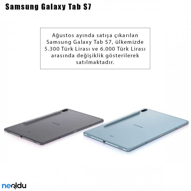 Samsung Galaxy Tab S7 Fiyat