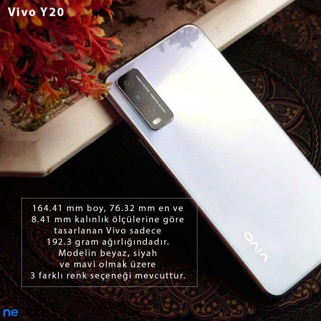 Vivo Y20 Renk seçeneği