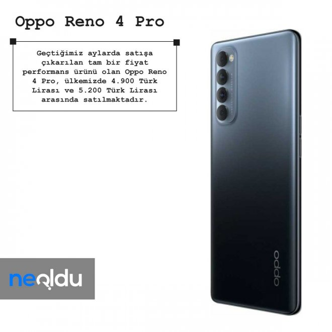 Oppo Reno 4 Pro fiyat