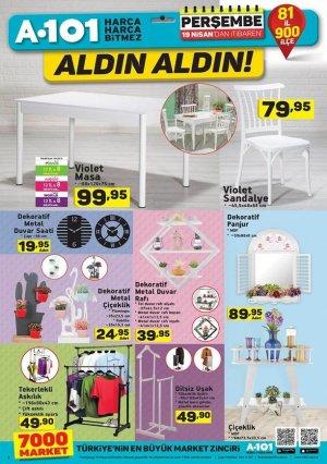 A101 kataloğu 19 nisan 2018 ürünleri