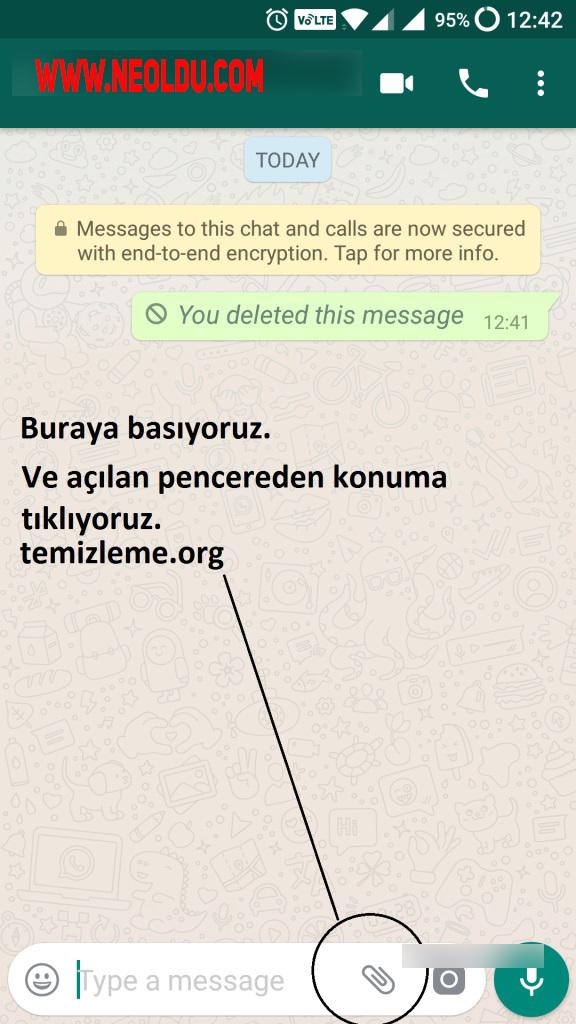 Whatsapp mesaj casusu