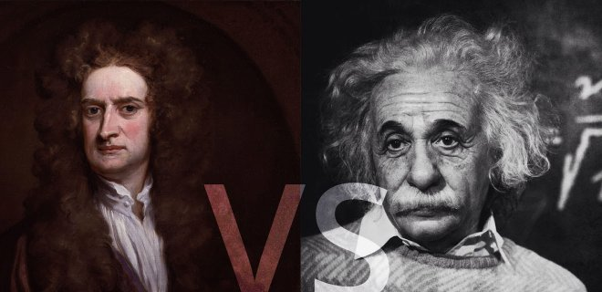 albert einstein ve ısaac newton