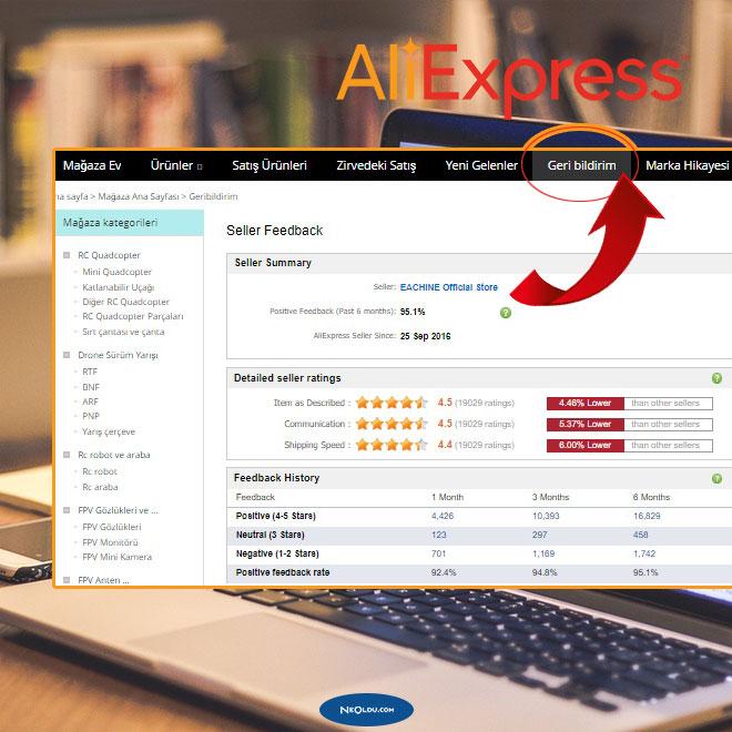 AliExpress Güvenli Satıcı Bulma