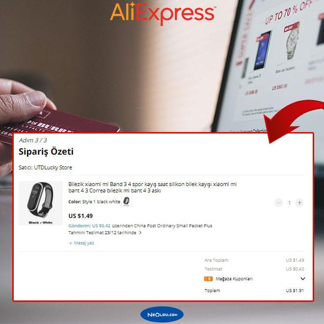 Aliexpress Yeni Kullanıcı Kuponu