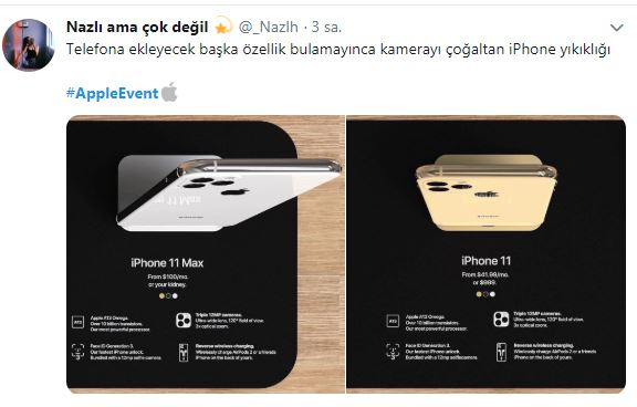 apple iphone 11 tepki