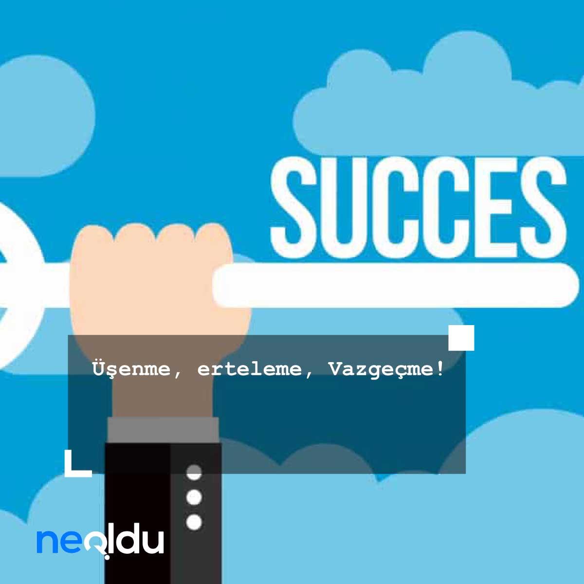 başarıyı arttıran sözler