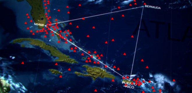 bermuda şeytan üçgeninin haritası