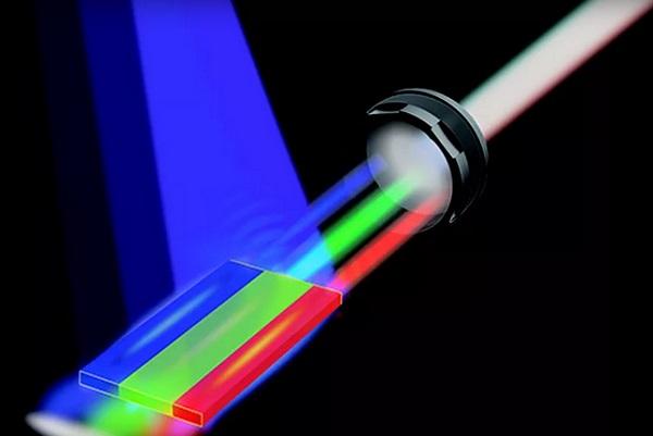 Beyaz lazer ışını yapısı