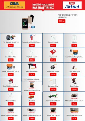 bim 13 nisan aktüel ürünler kataloğu