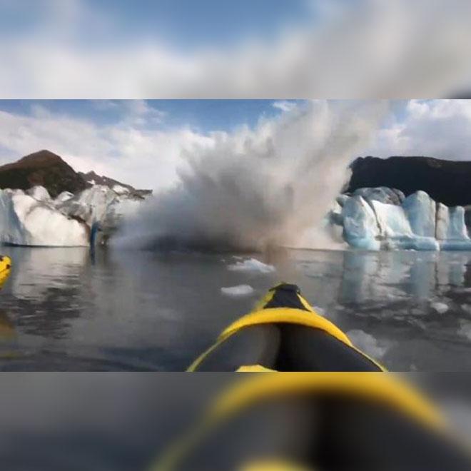 Buzulun Kırıldı Kanocular Ölümden Döndü