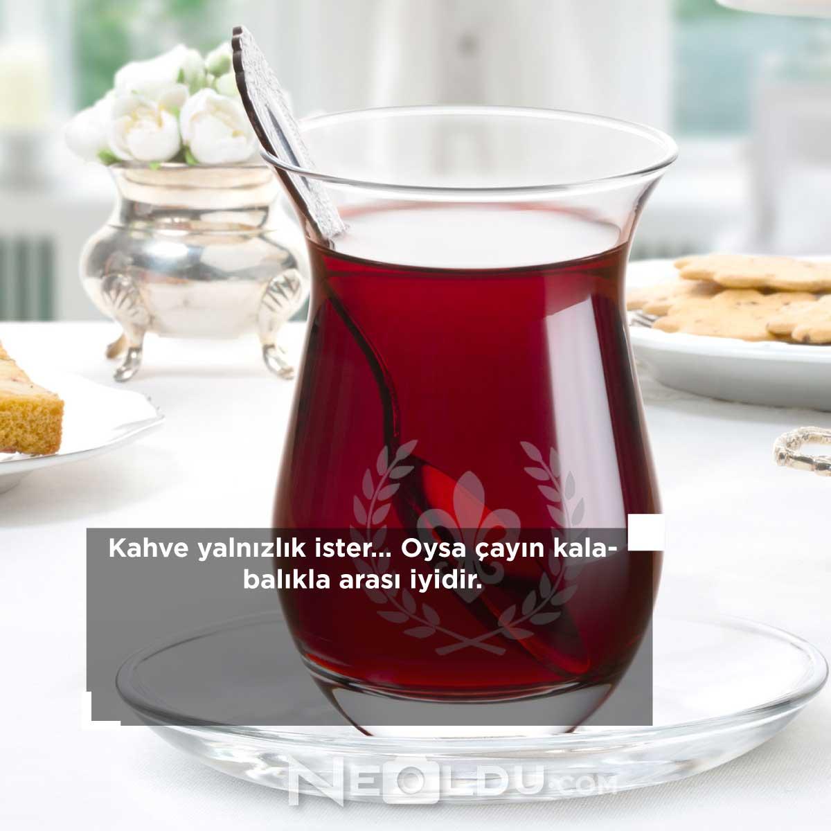 Çay ile ilgili sözler