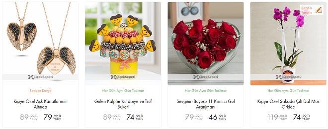Çiçek Sepeti 14 Şubat Sevgililer Günü İndirim Kampanyası