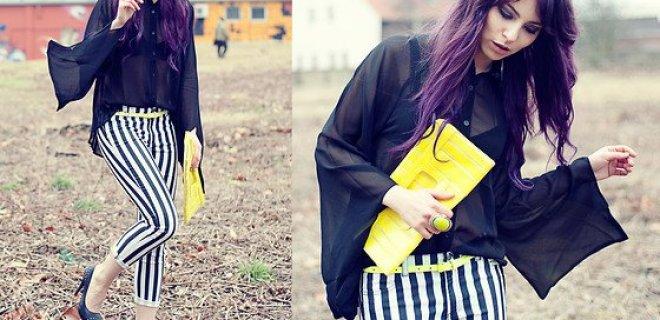 Uzun ve İnce Gösteren Kıyafetler: Çizgili Pantolon