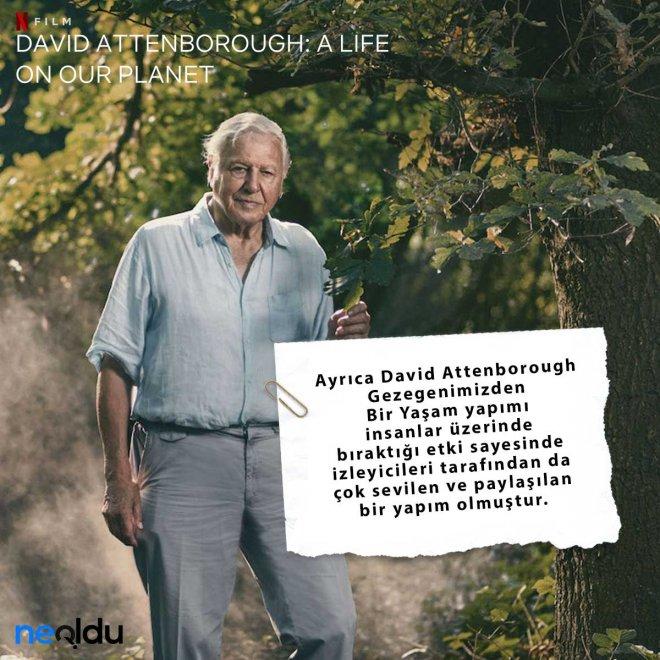 David Attenborough Gezegenimizden Bir Yaşam izleyici