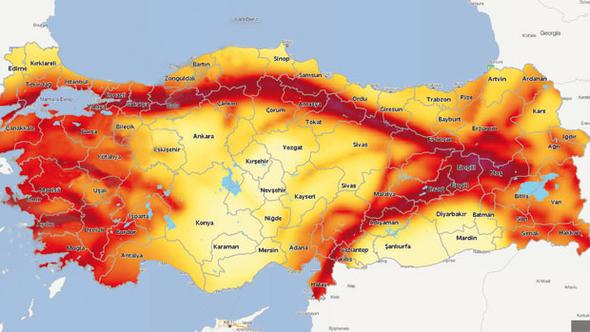 2018 türkiye deprem haritası