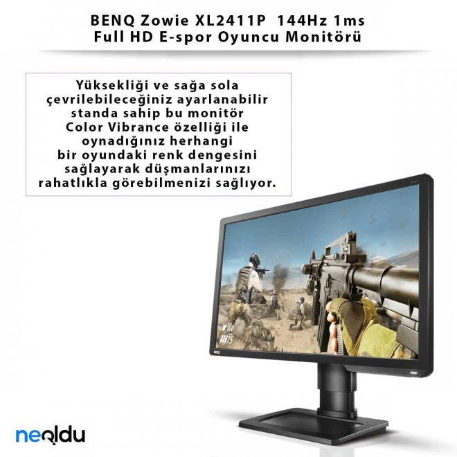 BENQ Zowie XL2411P 144Hz 1ms Full HD E-spor Oyuncu Monitörü