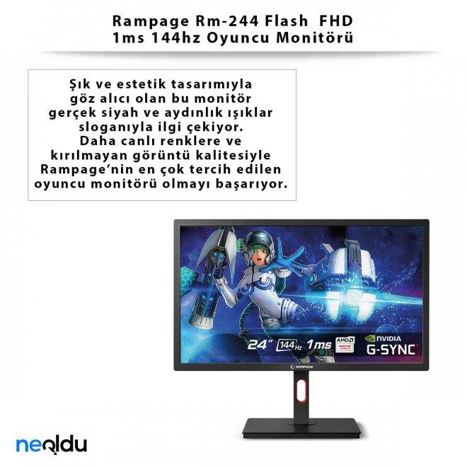 Rampage Rm-244 Flash FHD 1ms 144hz Oyuncu Monitörü