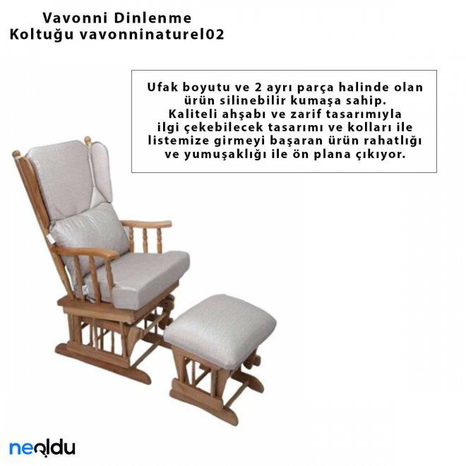 Vavonni Sallanan Sandalye Sallanan Koltuk Dinlenme Koltuğu vavonninaturel02