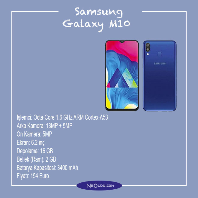 Samsung Galaxy M10 Cep Telefonu