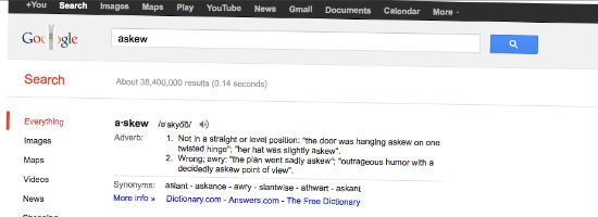 Google - Askew