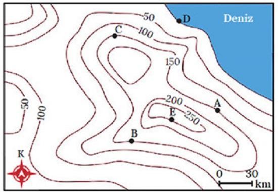 haritada yer şekilleri