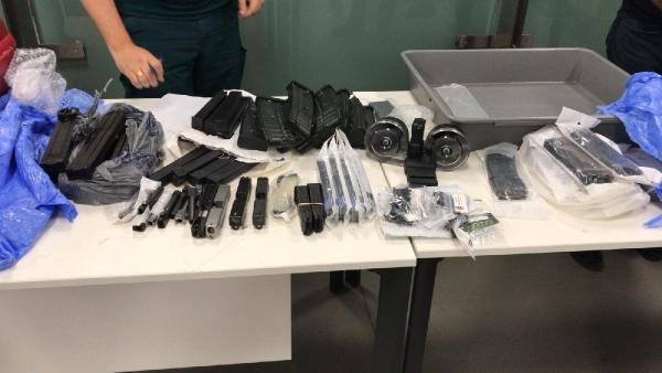 İstanbul Havalimanı'nda Ele Geçirilen Silah Parçaları