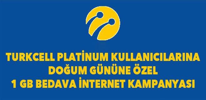 turkcell bedava internet paketleri turkcell platinum doğum günü