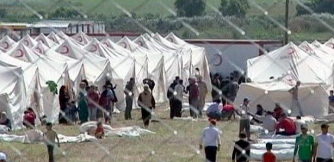 mülteci kampı çadır