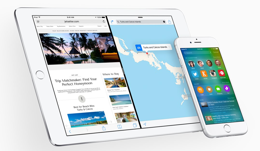 ios9 ipad ekranı