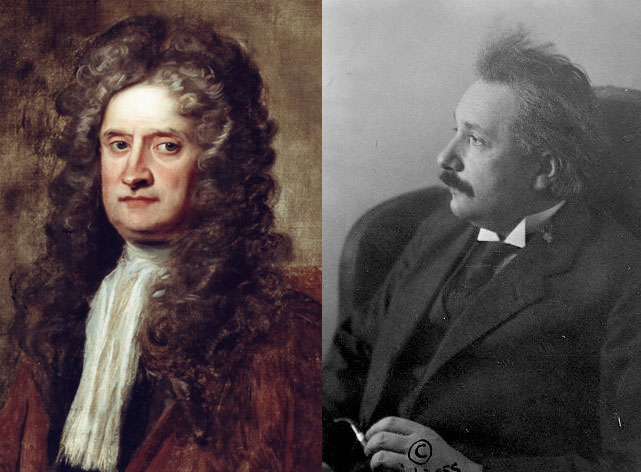ısaac newton ve albert einstein